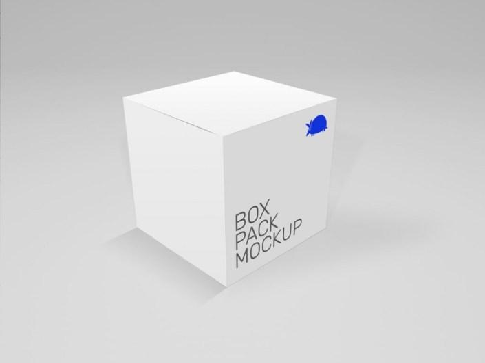 cube box mockup mockupworld