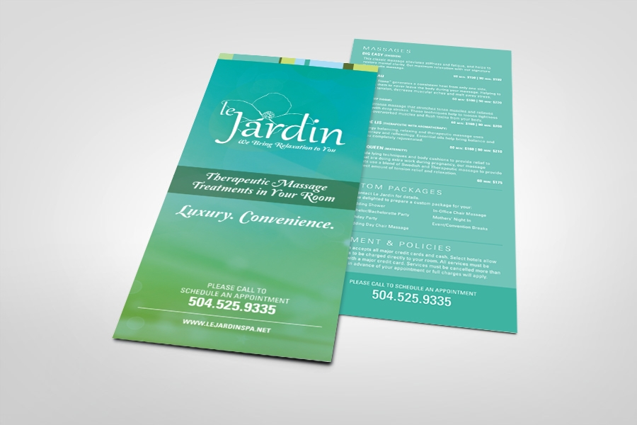custom marketing collateral business cards rack cards sales