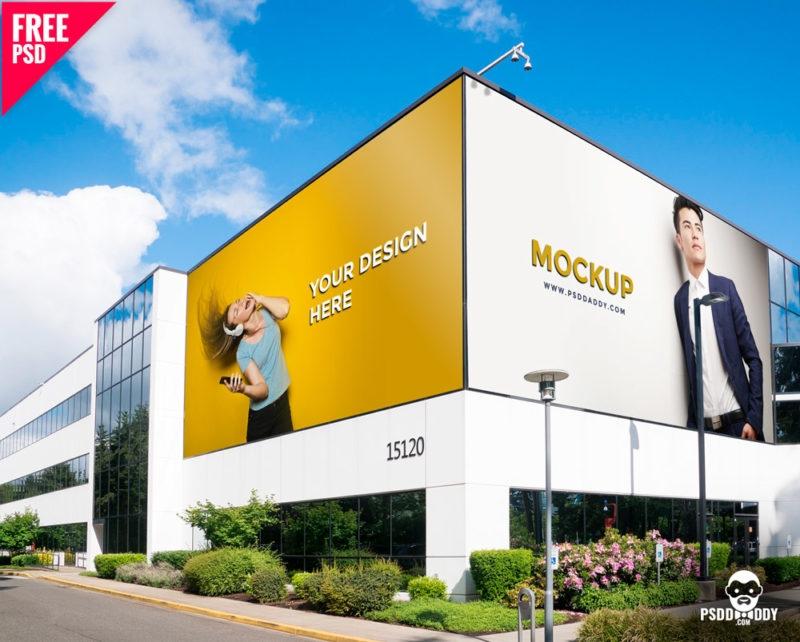download outdoor advertising mockup psddaddy