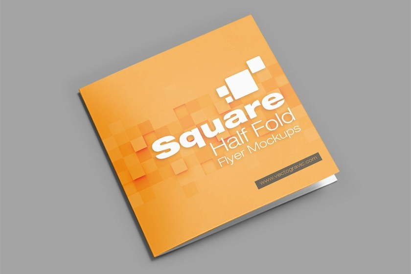 download this free psd square bifold brochure mockup designhooks