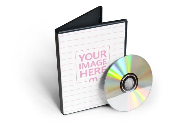 dvdcd cover mockup template mediamodifier