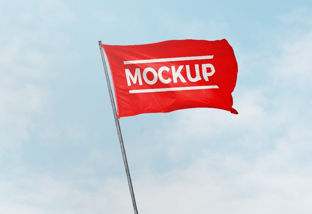 flag in wind mockup mockupworld