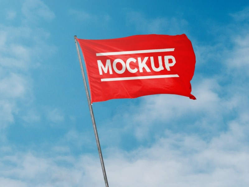 flag mockup free mockup
