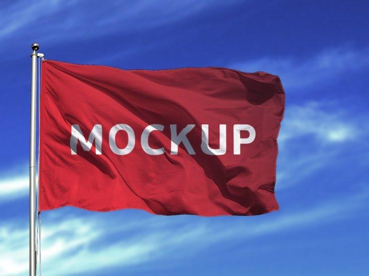 flag mockup free psd download psd