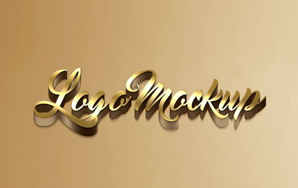 free 3d logo mockup in psd css author