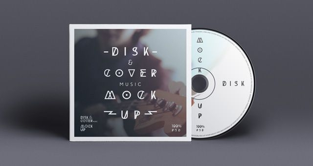 free cd cover disk mockup psd graphic design cd cover