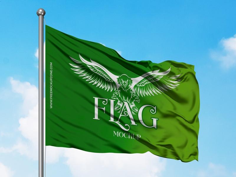 free flag mockup psd 2018 free mockup zone on dribbble