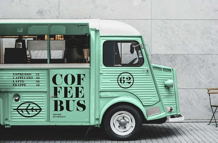 free food truck mockup mockuptree