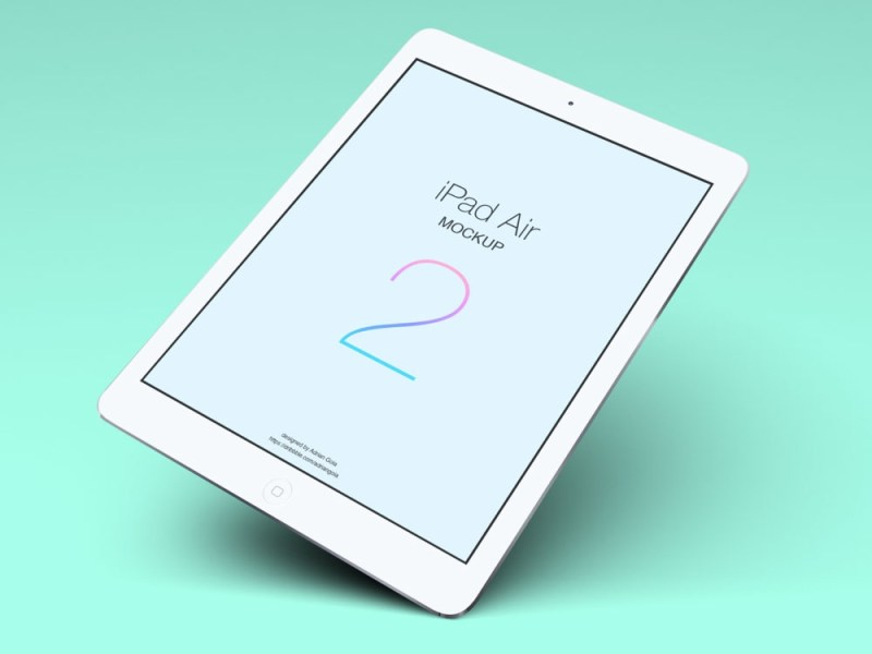 free ipad air tablet mockup pixlov