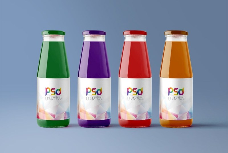 free juice bottle mockup psd psd graphics free