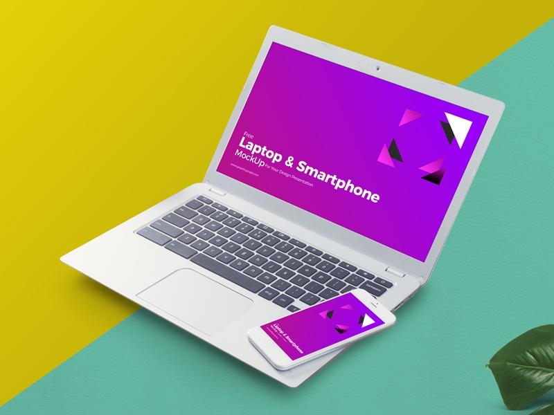 free mockup laptop and smart phone mockup mockup love