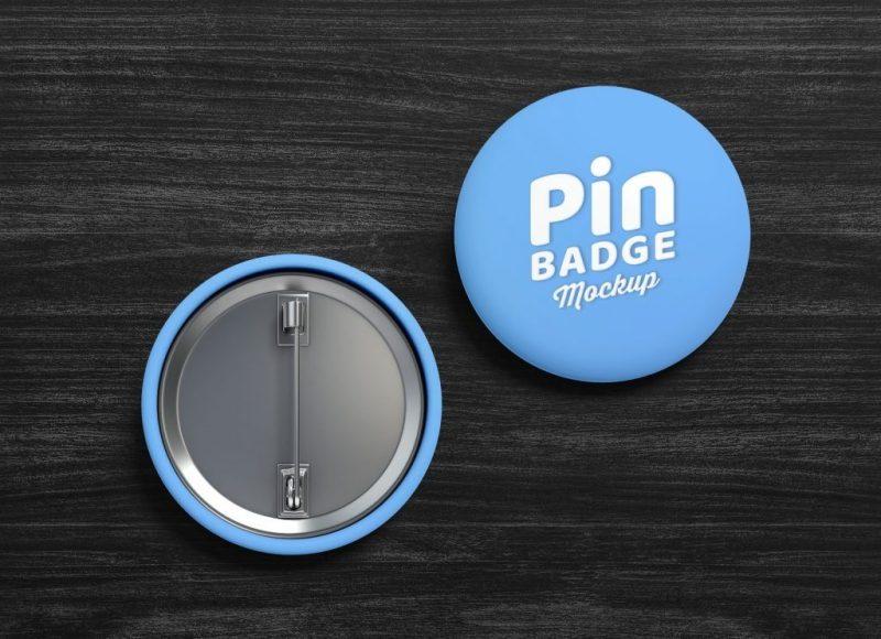 free pin back button badge mockup set good mockups