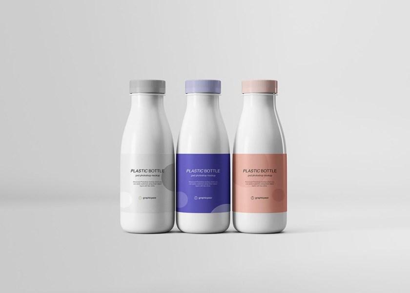 free plastic bottles mockup mockuptree
