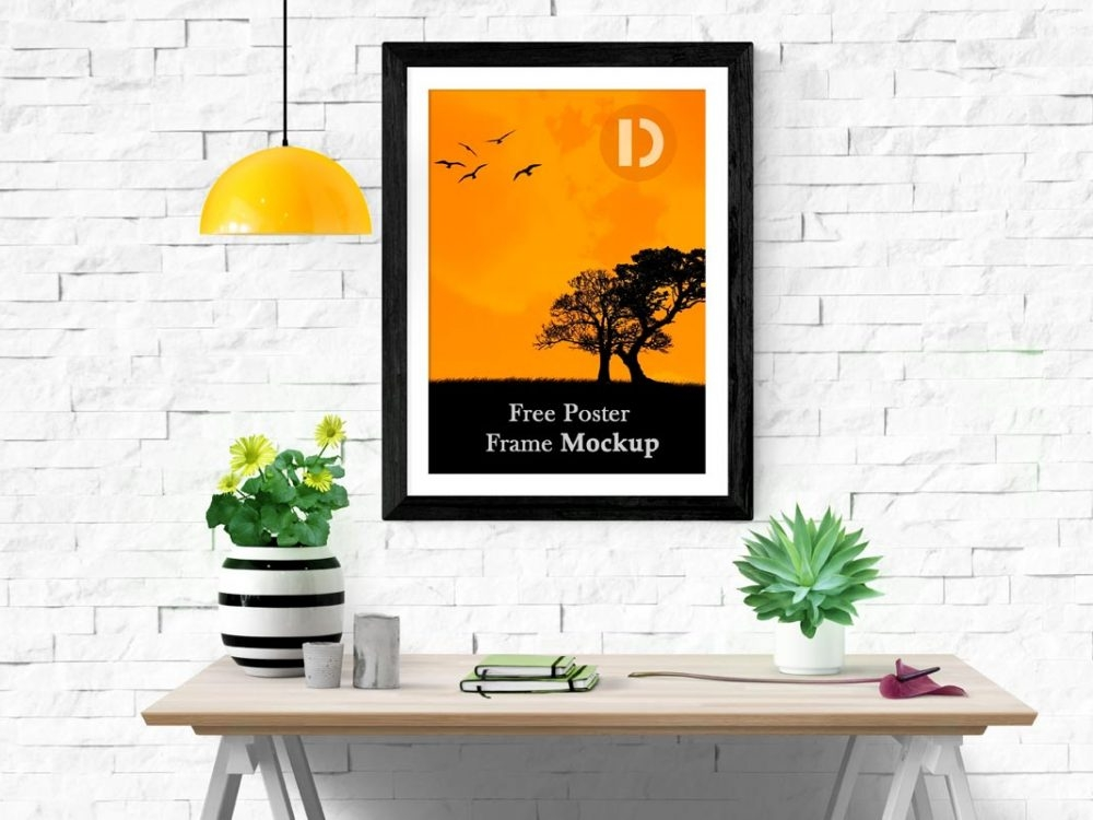 free poster frame mockup daily mockup