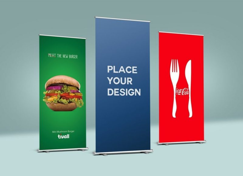 free roll up banner mockup psd good mockups