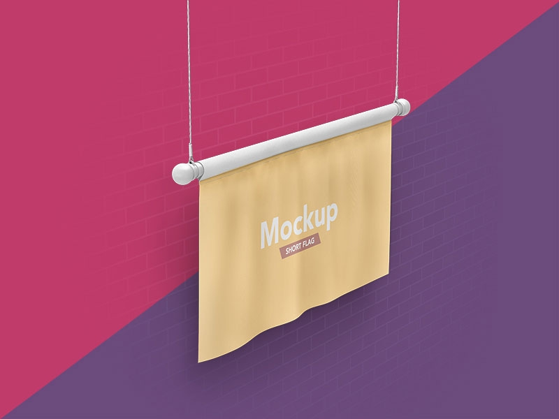 free short flag mockup mockuptree