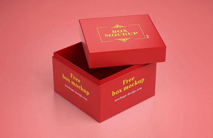 free simple gift box mockup mockuptree