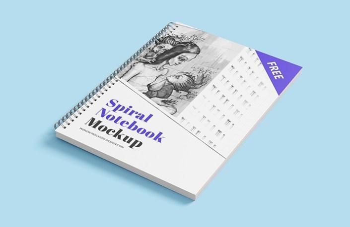 free spiral notebook mockup mockups design free premium