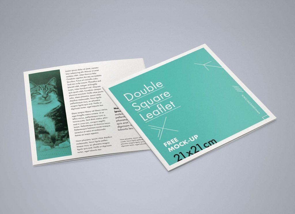 free square bi fold brochure mockup psd good mockups