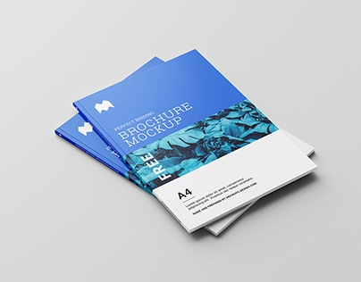 free square brochure mockup on behance