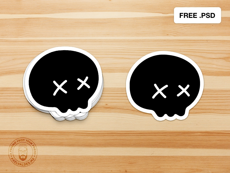 free sticker psd mockup axel valdez on dribbble