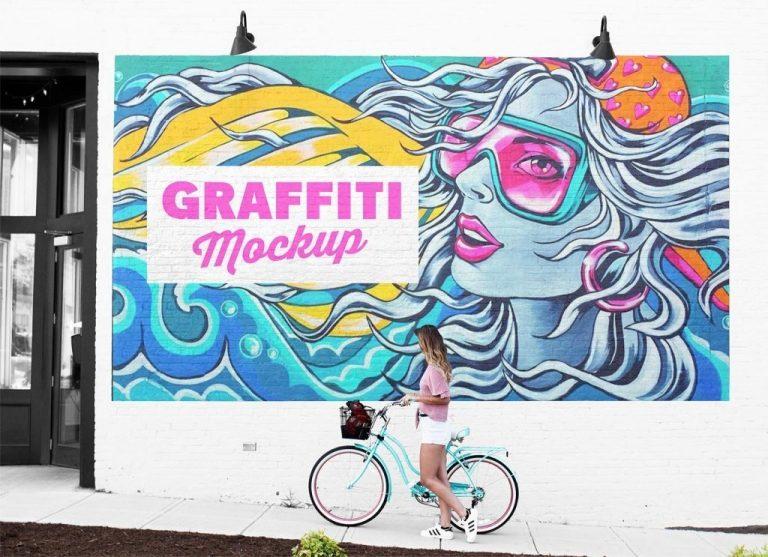 free street mural wall art graffiti mockup psd good mockups