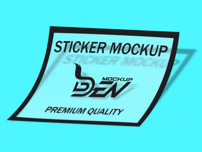 free transparent sticker mockup freemockup