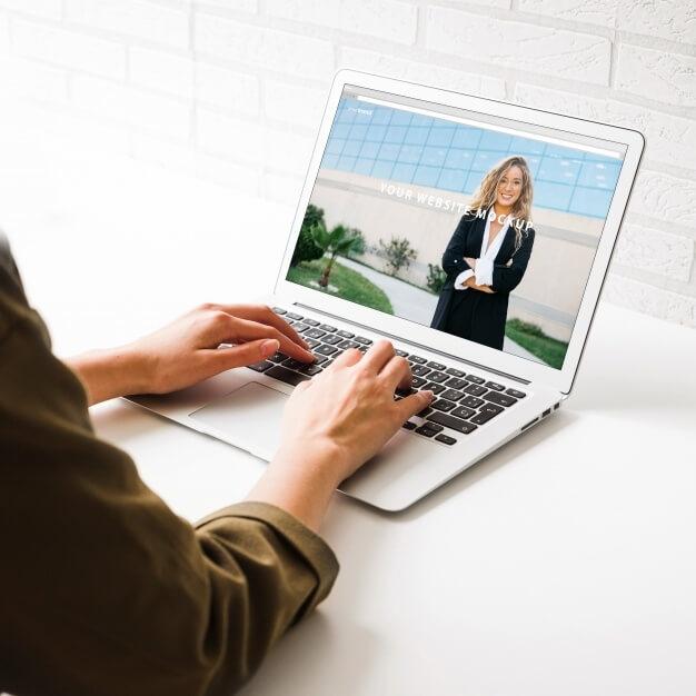 free white color realistic laptop mockup mockuphut home of