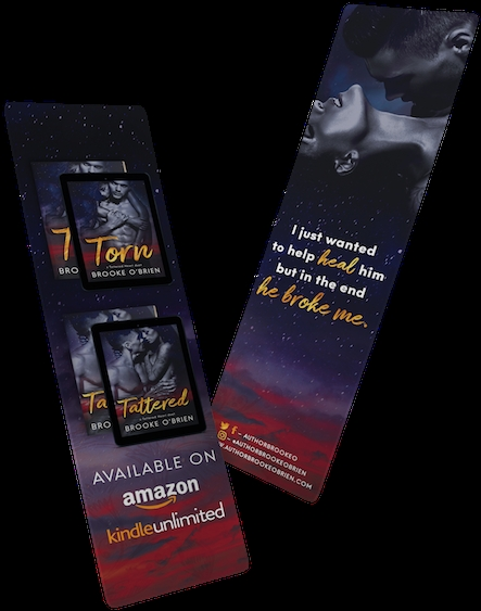 hd tatteredhearts bookmark mockup flyer free unlimited