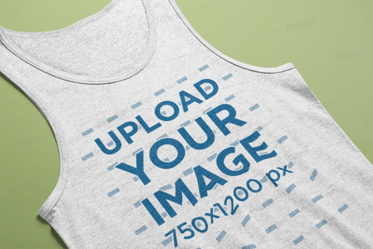 heather tank top mockup on a flat surface 24204