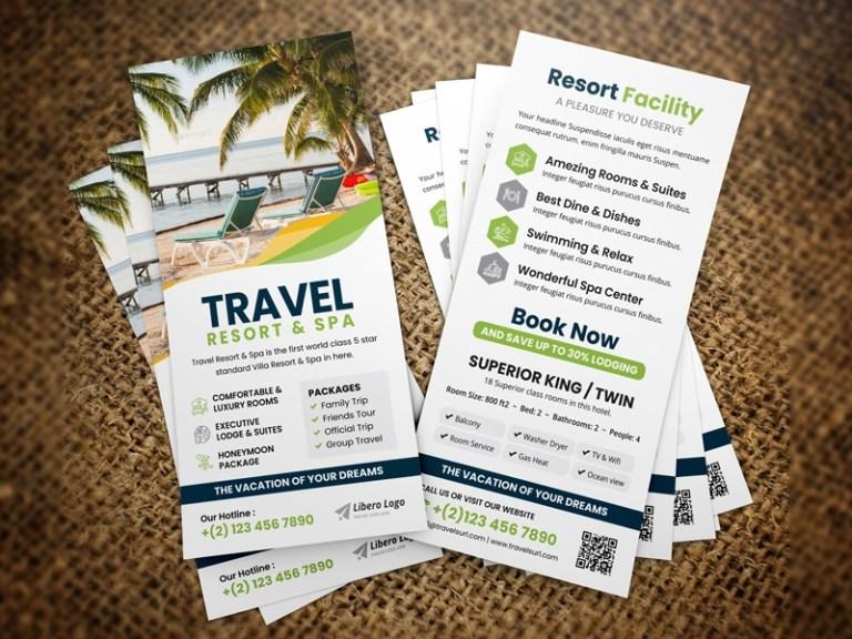 holiday travel rack card dl flyer jabin hossain on dribbble