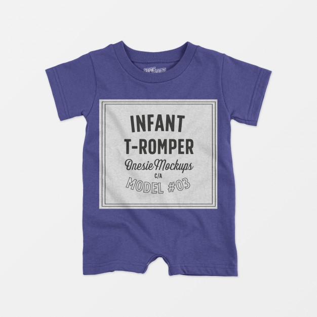 infant t romper onesie mockup 03 psd file free download
