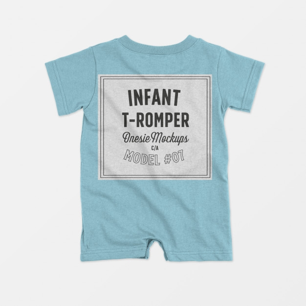 infant t romper onesie mockup psd file free download