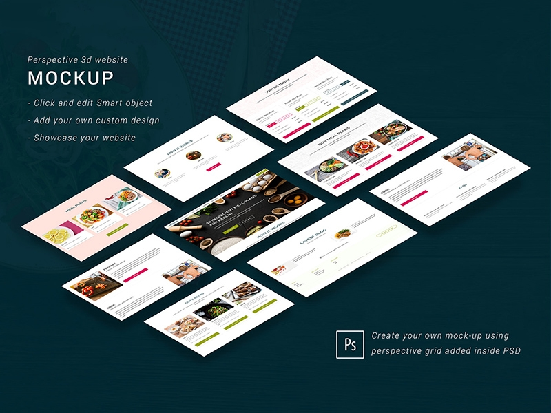 isometric website mockup free psd template psd repo