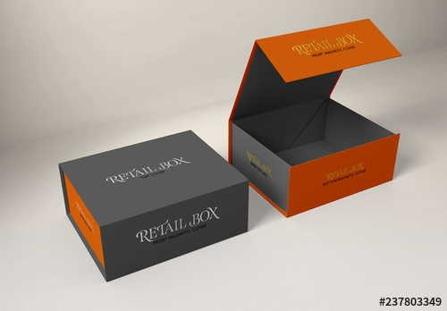 magnetic gift boxes mockup buy this stock template and