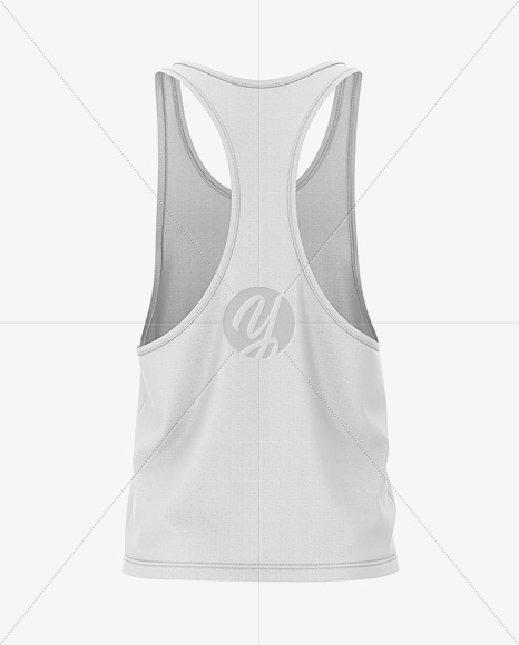mens racer back tank top mockup back view in apparel