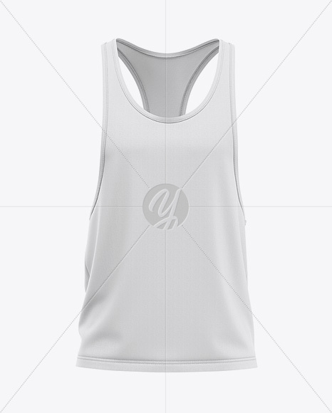 mens racer back tank top mockup front view in apparel