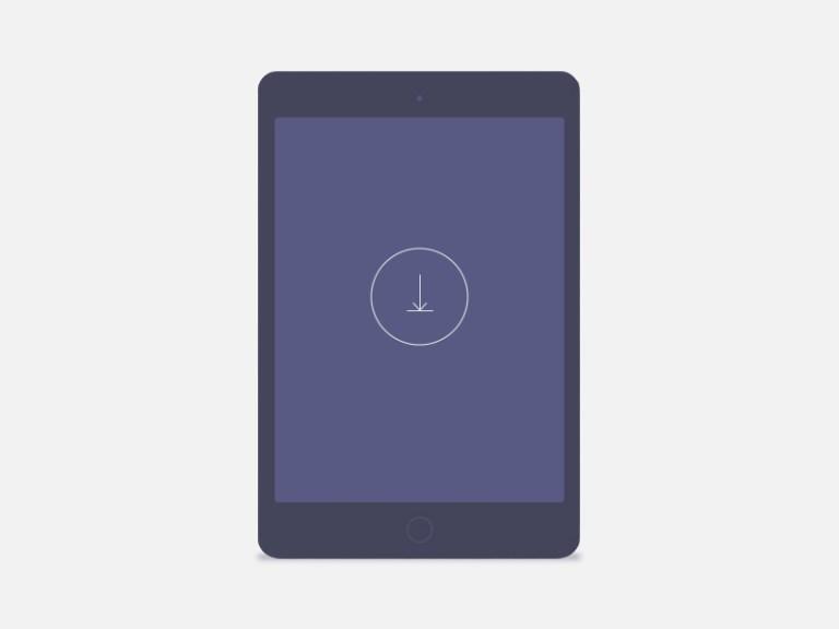 minimalistic dark tablet mockup free psd template psd repo