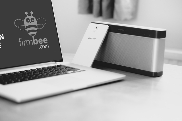 modern laptop samsung galaxy black and white psd mockup