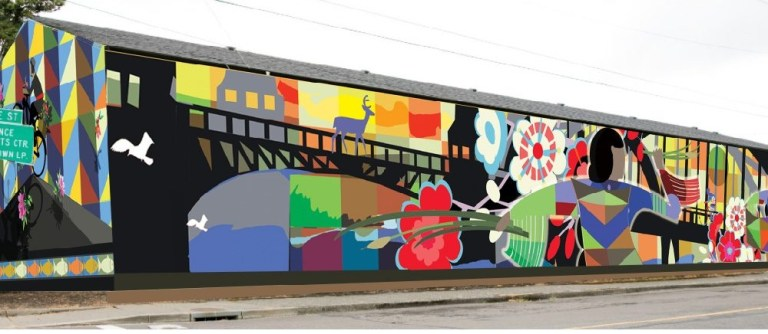 mural dedicated arrest in hit and run cannery station