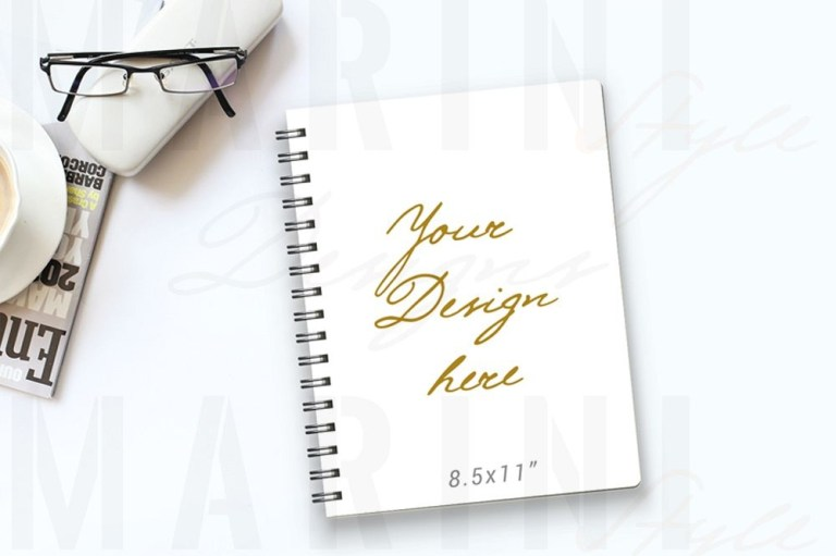 notebook mockup planner cover mockup journal mockup 989