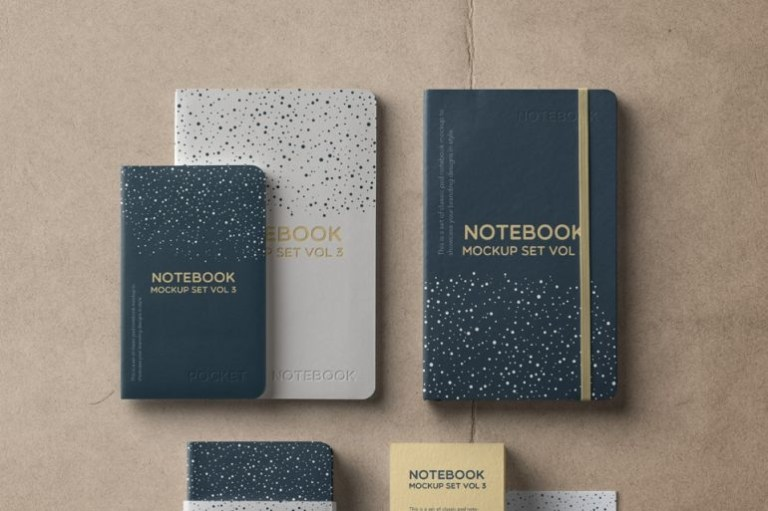 notebook mockup set barnimages