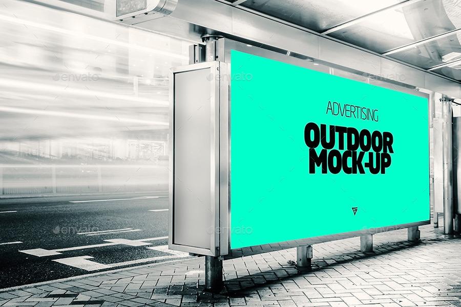 outdoor banner advertising mock ups