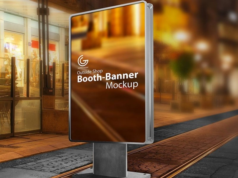 outdoor booth banner mockup mockupworld