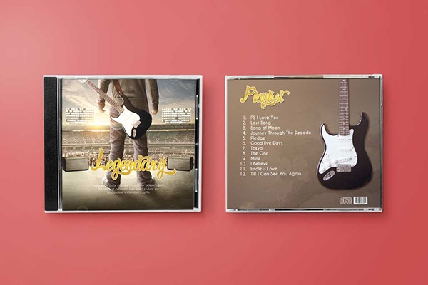 photorealistic disk cd cover mock up on behance