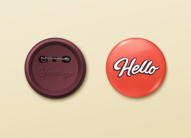 pin buttons mockup psd template mockup button badge pin