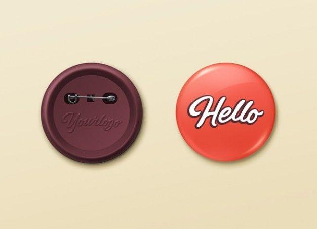 pin buttons mockup psd template mockup button badge pin
