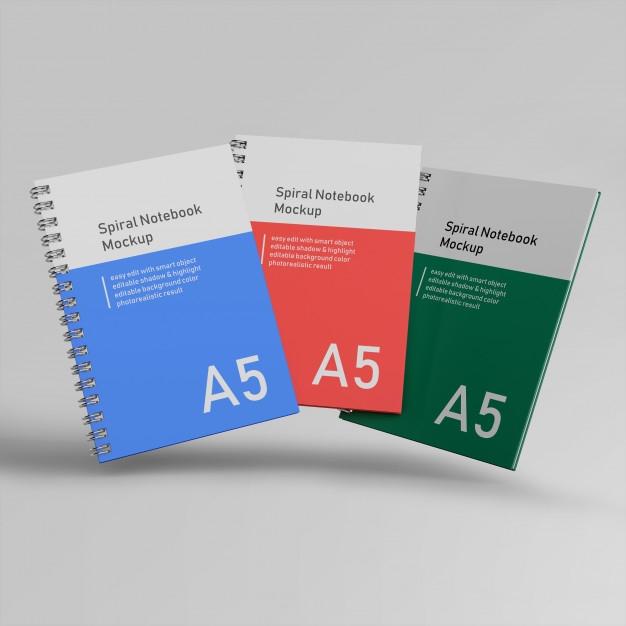 premium three office hard cover spiral binder notebook
