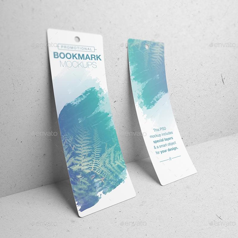 promotional bookmark mockups