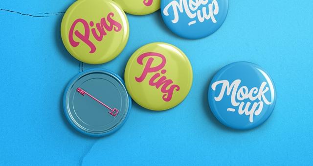 psd pin badge mockup template psd mock up templates pixeden